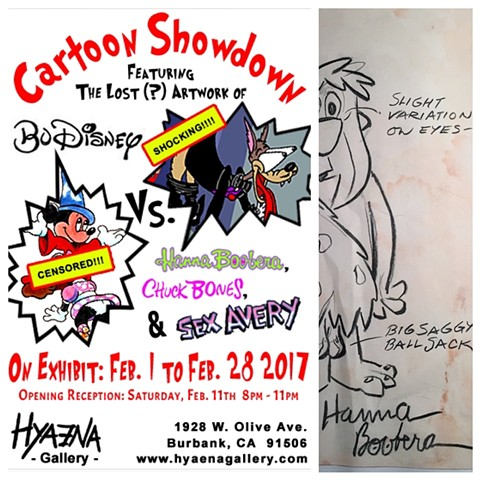 Cartoon Showdown  Hyaena Gallery Burbank, CA Feb-March 2017