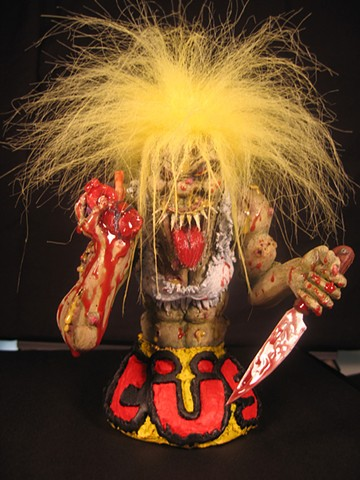 """Martha Splatterhead"" (front view) the Accused (band) mascot"