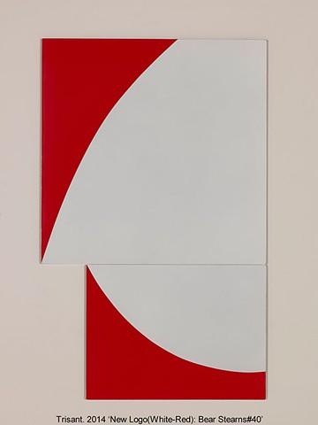 New Logo(White-Red): Bear Stearns#40