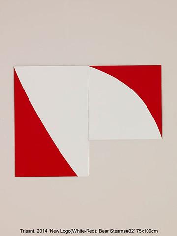 New Logo(White-Red): Bear Stearns#32