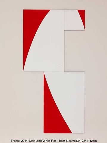 New Logo(White-Red): Bear Stearns#34
