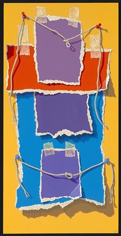 Pamela Sienna trompe l'oeil painting of paper