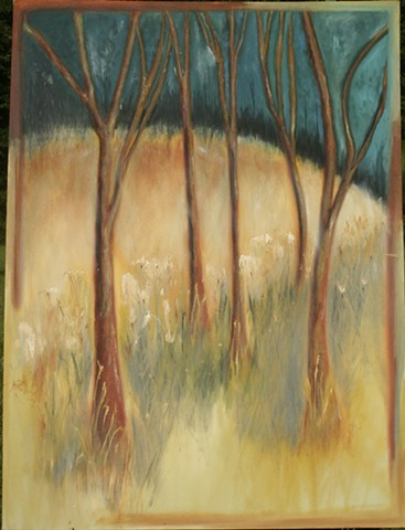 Abstract Impressionist Landscape in oil