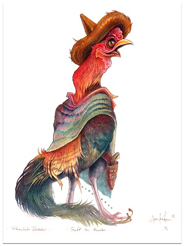 panchito pistoles 2013 colored pencil/ink 11 x 14