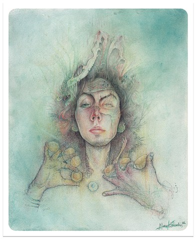 jaded dreams 2012 colored pencil 8 x 10  prints