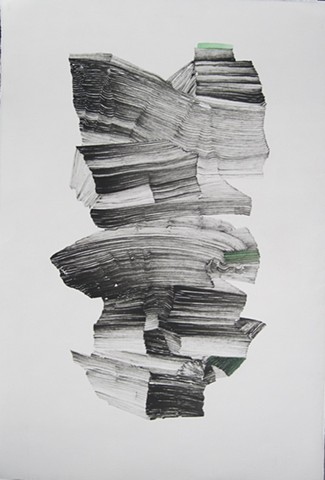 contemporary drawing, sumi ink, nature, climate change, abstract, performance