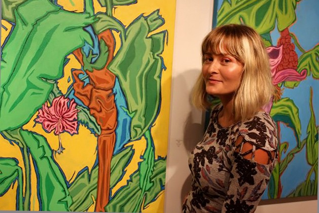 Exhibiting artists and gallery owner, Margaux Wolszczan