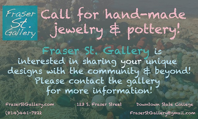 Call for Hand-Made Jewelry and Pottery!