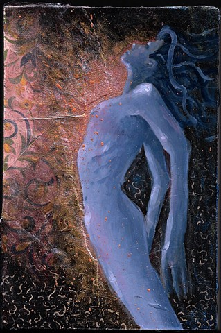 Atla the goddess of water female painting by jon gernon