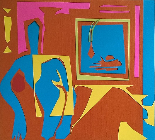Paper Cut Out 2(Negative) Reclining Figure with Still Life