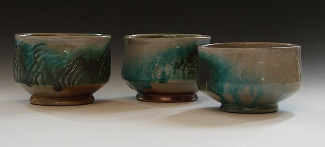 Various Turquoise Tea Bowls