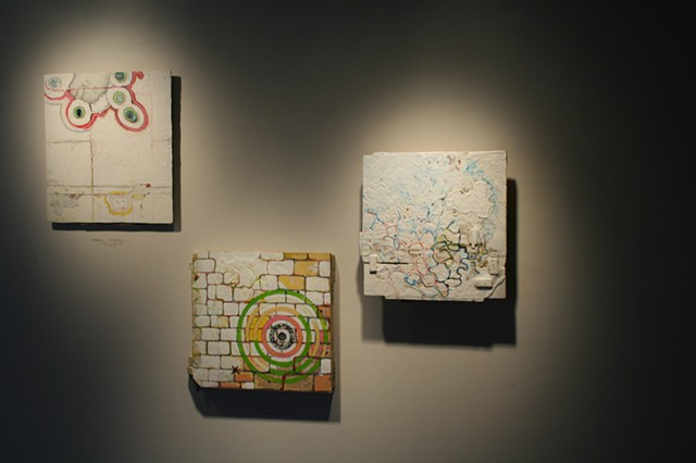 BB3: Invasion, Target + Wall, and Slow Curse (installation view)
