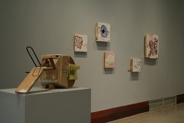 Installation view of solo exhibit at Georgetown College, 2008