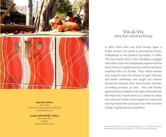 Vis a Vis: Adria Arch and Anne Krinsky catalog essay by Mary M. Tinti, Ph.D. Curator, Fitchburg Art Museum