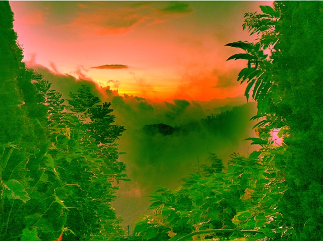 Digital artwork, cloud forest and mountains, Oaxaca, created by J4Kd