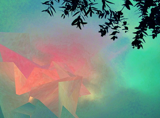 Digital artwork, polygon and eucalyptus, Oaxaca, created by J4Kd