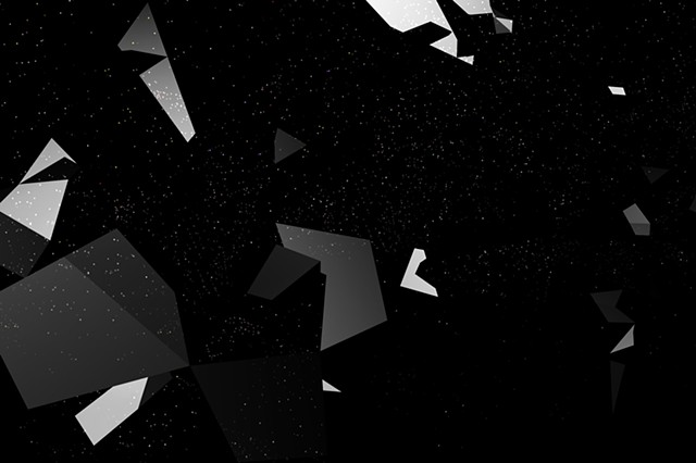 Digital artwork, shattered sky, created by J4Kd