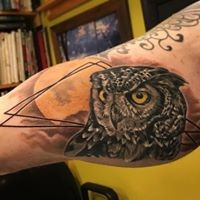 Christian DiMenna, Tattoo artist, Best tattoo, black and gray tattoo,Ct tattooer, Owl Tattoo, Bird tattoo,