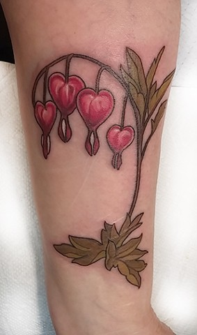 Lovecraft Tattoo, Charlotte Epright, Ct Tattoo, Best Tattoo, Bleeding Hearts, Plant Tattoo, Flower tattoo