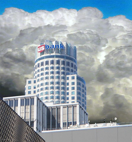 US Bank's Downtown California building exterior photo-compilation