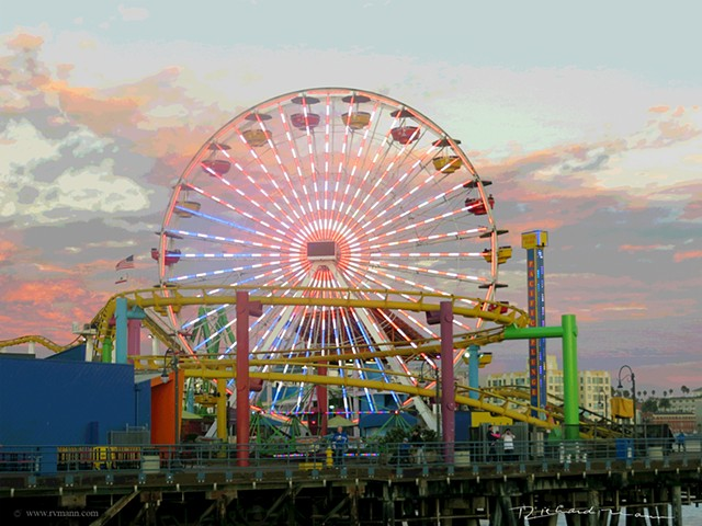 Santa Monica California Amusement park Ferris Wheel
