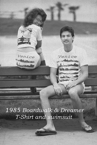 Venice Boardwalk T-Shirts & swimsuit 1985 version