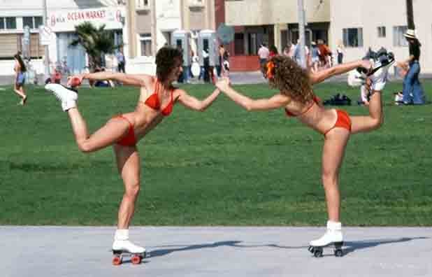 Venice Beach Ca. Rollerskating on the Boardwalk