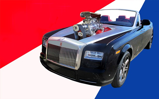Conceptual mock-up 2016 Rolls Rouce convertible hot-rod