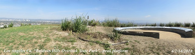 Baldwin Hills Scenic Overloof Park peak observation point