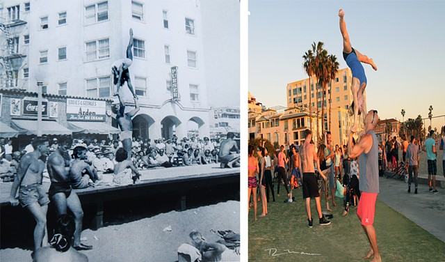 Santa Monica Beach acrobats past and present
