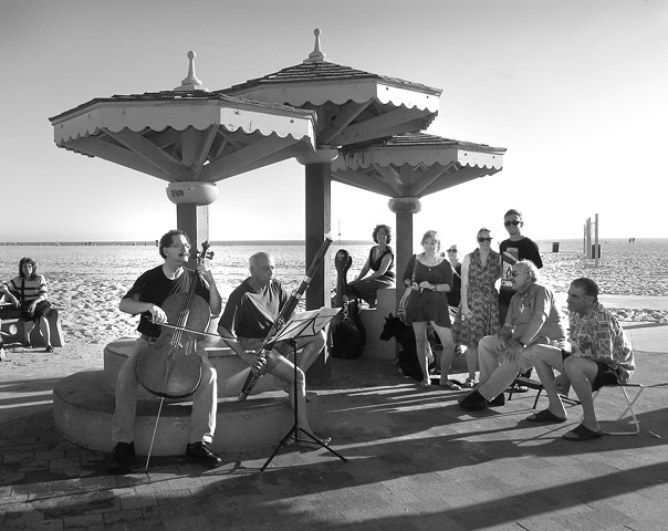 Venice Beach CA. 38 years later the classical group returns and plays for the neighborhood