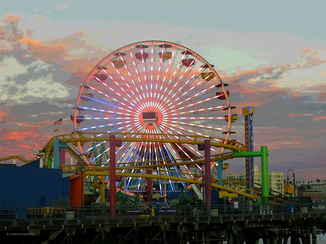 Ferris wheel at the Santa Monica Amusement Pier