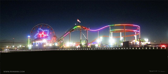 Santa Monica Amusement pier photography by Richard Mann