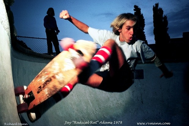 Venice Beach Ca. renown iconic Skateboarder Jay Adams