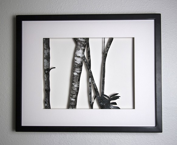 11 Xacto hand cut photograph  Work sold unframed