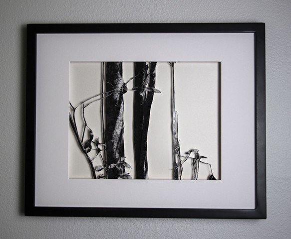 08 Xacto hand cut photograph  Work sold unframed