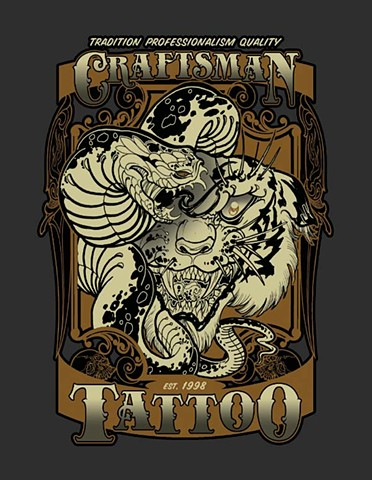 Craftsman tattoo parlour