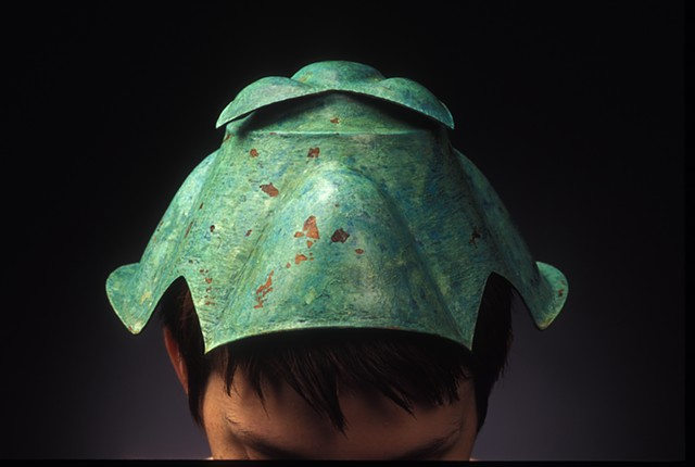 copper, hollow-formed hat