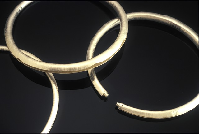 silver jewelry, hollow formed neckbands