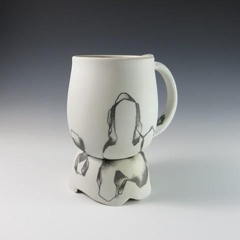 Doodle mug with pedestal