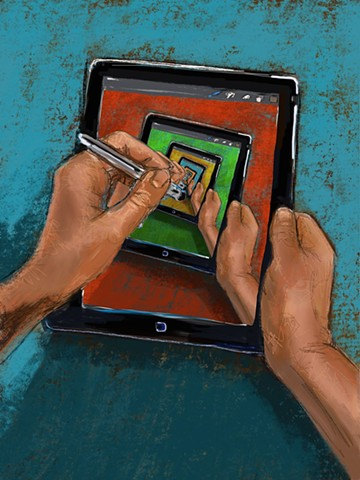 Me Drawing on My iPad Drawing on My iPad Drawing