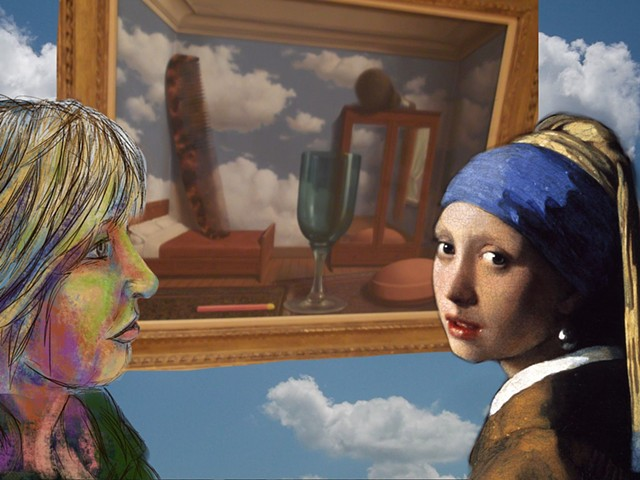 Magritte, Vermeer and Me