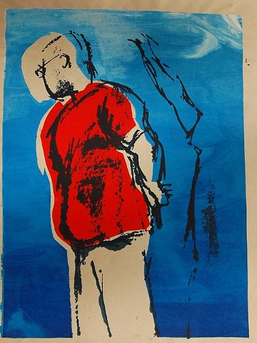 Julian, 2012; Silkscreen monoprint (framed)