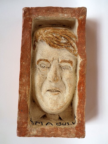 I am a bully Trump brick by Lisa Jenschke, Artist.