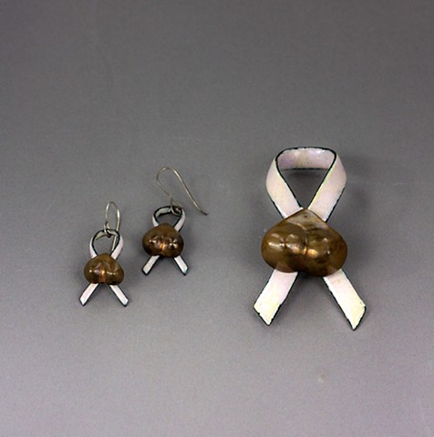 Breast Pin and Earrings