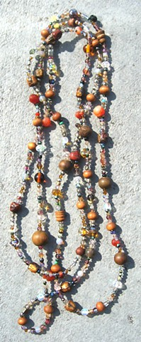 Buddha beads harmony in orange