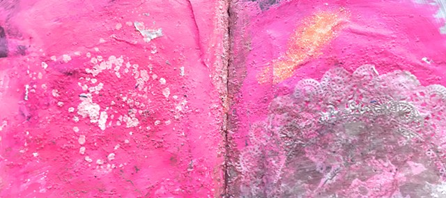 Hot pink, from glitter and grime book