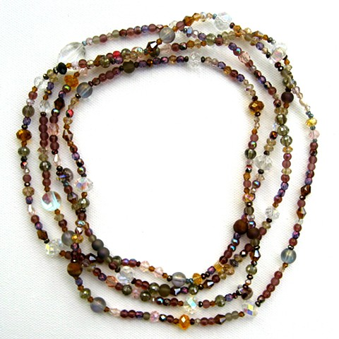 Earth tone hued wrap necklace