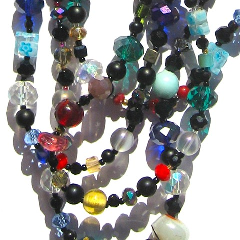 Detail, Multicolor & black wrap necklace