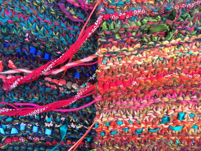 Autumn brights infinity scarf (detail)